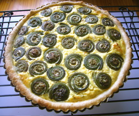Fiddlehead Fern Quiche