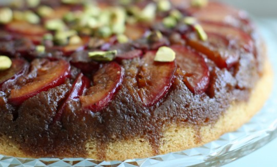 Apricot Cherry Upside Down Cake