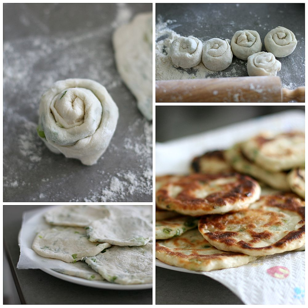 Chinese Green Onion (Scallion) Pancakes