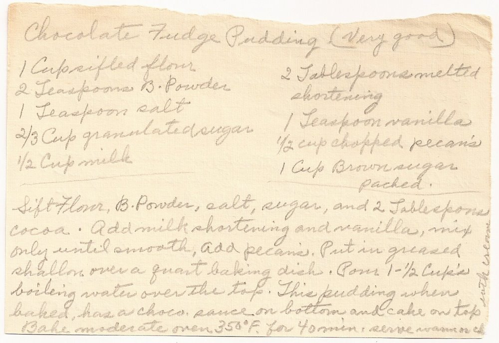 Chocolate Fudge Pudding Recipe
