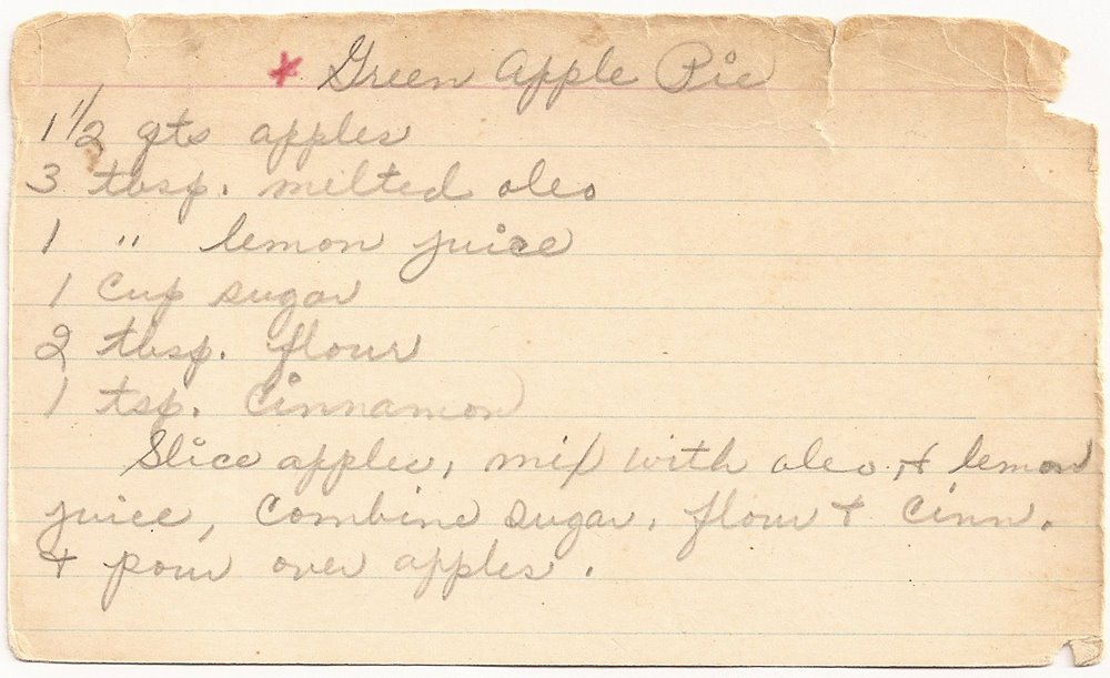 Green Apple Pie Recipe