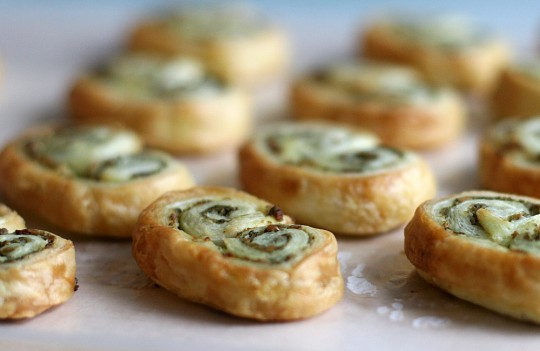 Baked Pesto Palmiers Snacks
