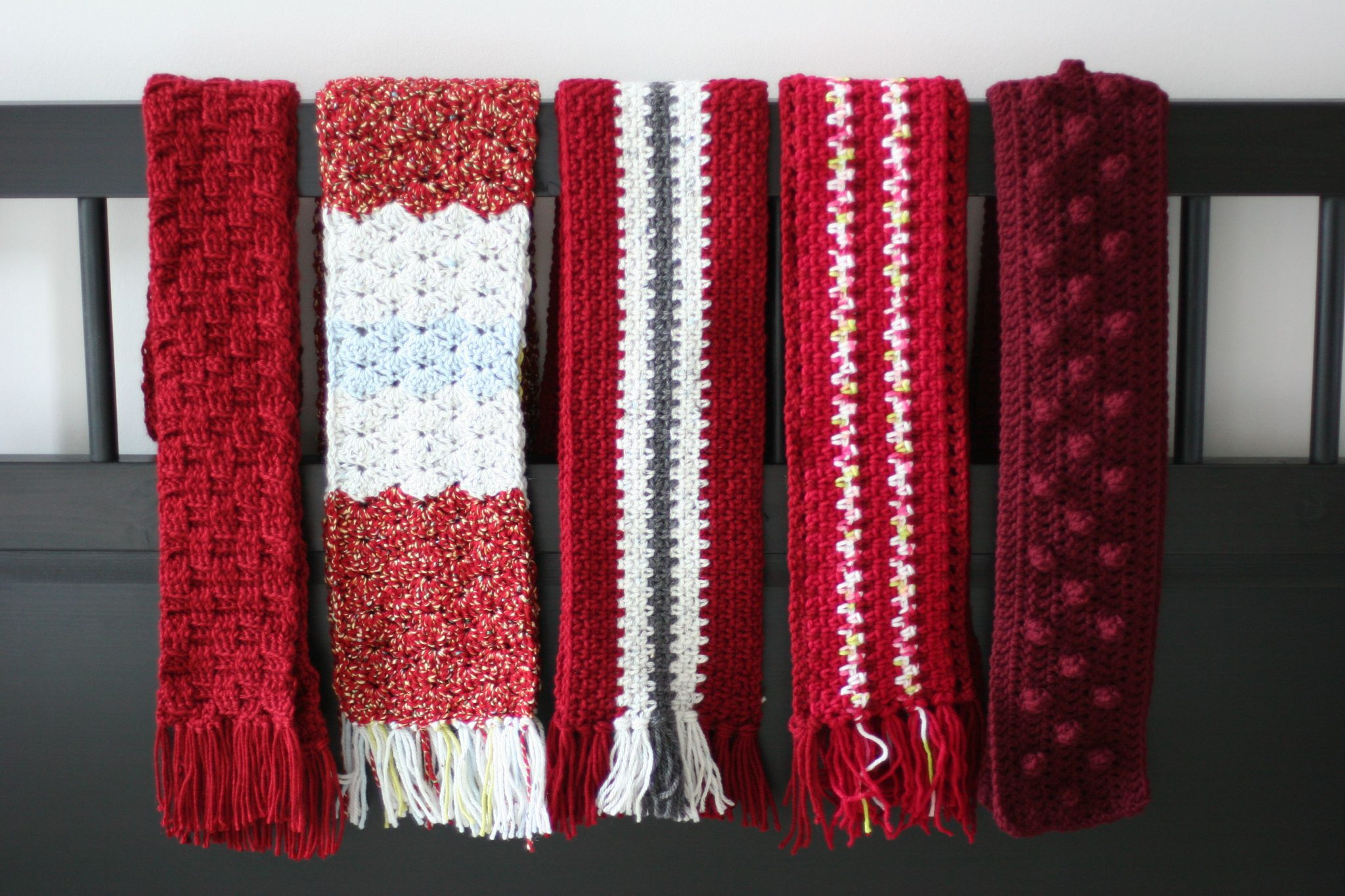 Crocheted Scarves for Charity Donation