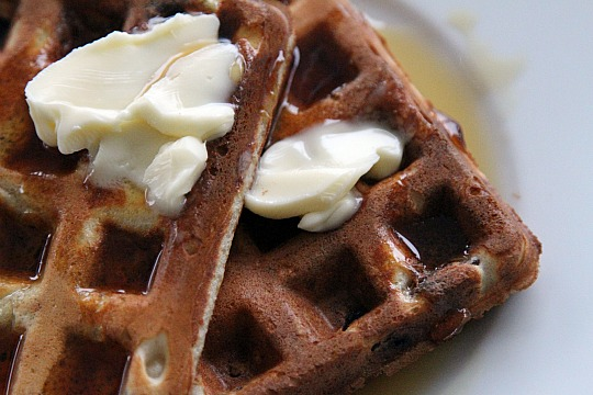 Buttermilk Buckwheat Yeast Waffles Recipe
