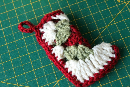 Crocheted Christmas Ornament Stocking