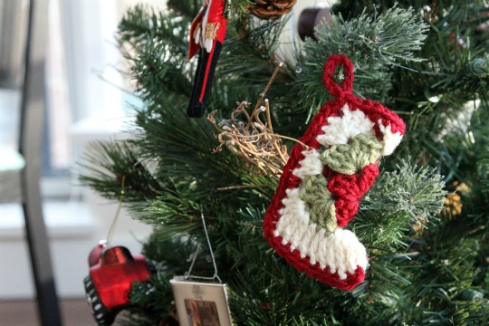Crochet Christmas Ornament - Easy to Make X-Mas Stocking