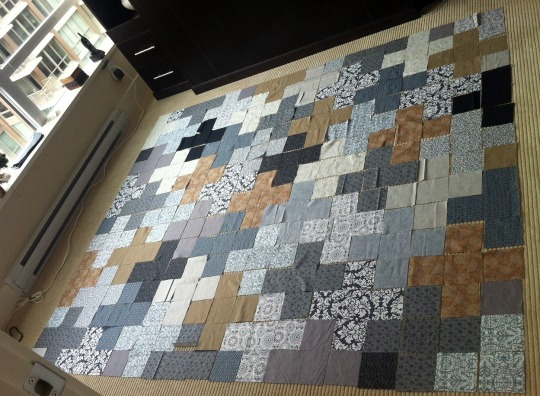Urban quilt in greys and browns